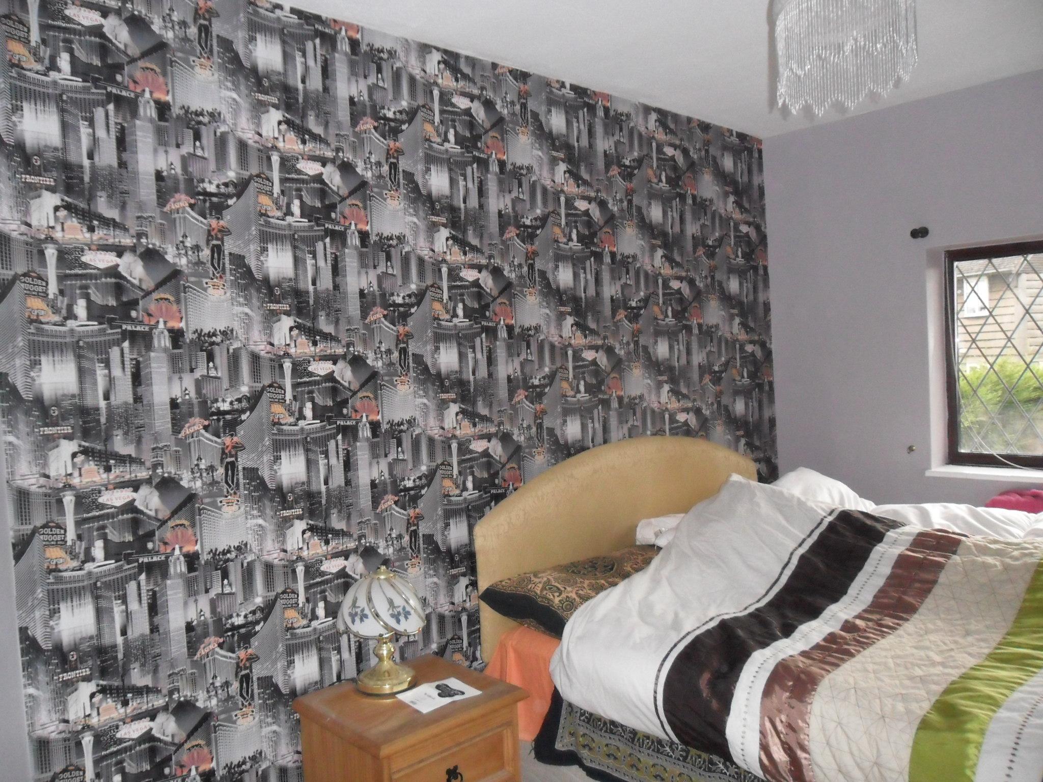 Mr Karan – bedroom lining & wallpapering
